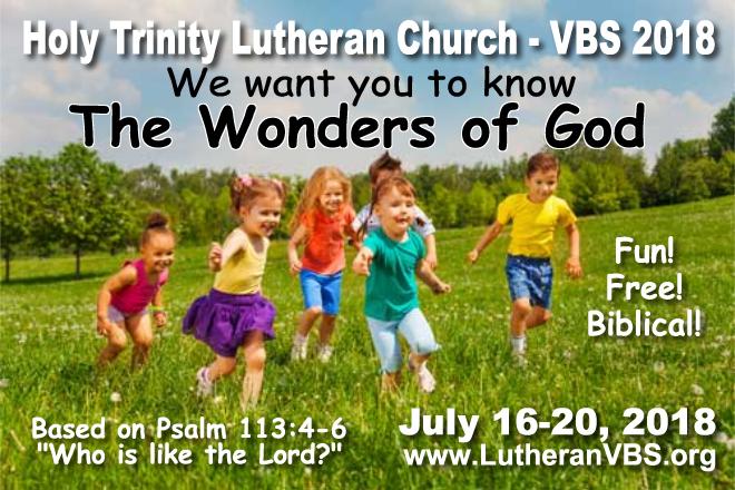 Holy Trinity VBS 2018